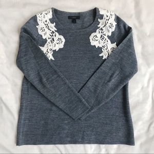 J. Crew Sweater With Lace Detail